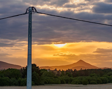 Great Sugarloaf from Kilcoole train station