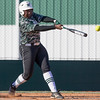 Special photo by Von Castor<br /> Muskogee's Lexi Watson slams the second of two home runs Thursday.
