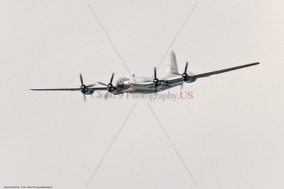 """WB-B-29 0069 A Boeing B-29 Superfortress US WWII strategic heavy bomber warbird, """"DOC"""", making a high speed low pass at the 2018 Thunder Over Michigan airshow by Peter J  Mancus     851_1218     DWT"""