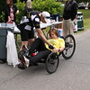 "Staff photo by Harrison Grimwood<br /> Patty Parmeter, a suicide prevention coordinator at the Jack<br /> C. Montgomery VA Medical Center, tries out a recumbent tricycle<br /> during the VA2K Walk and Roll. Parmeter ended her roll by saying<br /> ""exercise is good stress relief."""