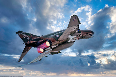 AB-F-4-USAF 004C A McDonnell Douglas QF-4E Phantom II USAF jet fighter drone 162 82 ATRS HD code in afterburner, 2016, military airplane picture by Peter J Mancus     Dt