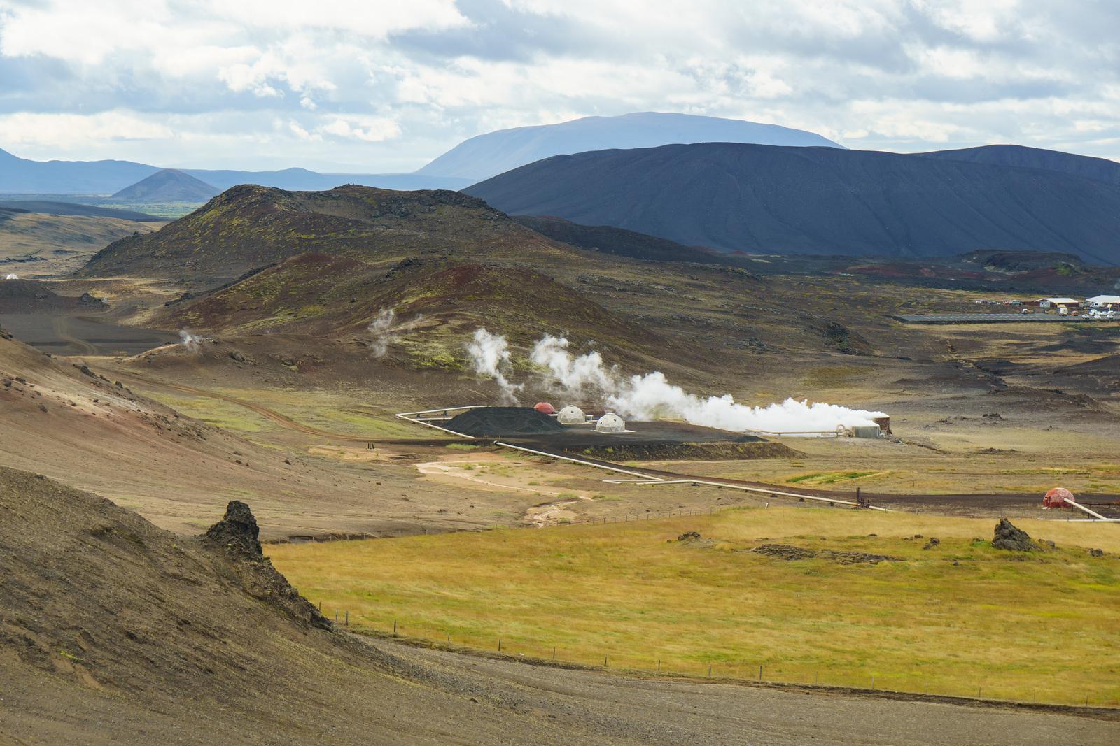 A geothermal plant near Akureyri, Iceland.