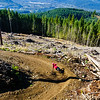 "Carolyn Stwertka rails a berm on ""Meadow of the Grizzly,"" a trail in Squamish, British Columbia."