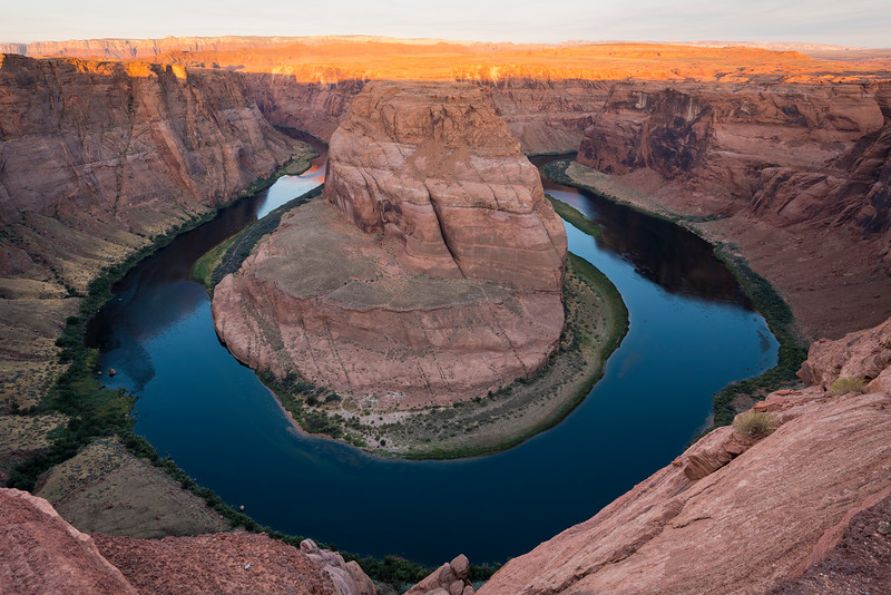 Sunrise at Horseshoe Bend
