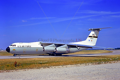 C-141USAF-438th MAW 001 A taxing Lockheed C-141A Starlifter USAF jet cargo aircraft 40627 taxing at Frankfurt 7-1971 military airplane picture by Stephen W  D  Wolf     11A_2197     DoneWT