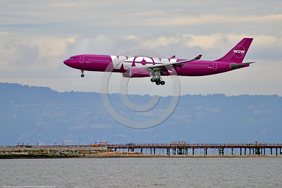 A330 00004 An Airbus A330 WOW AIR TF-GAY an Icelandic jet airliner lands at SFO 6-2016 jet airliner picture by Peter J  Mancus