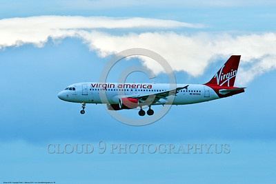 A320 00008 An Airbus A320 VIRGIN AMERICA N639VA jet airliner on final approach to land 6-2016 jet airliner picture by Peter J  Mancus