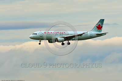 A320 00004 An Airbus A320 AIR CANADA C-FDCA jet airliner on final approach to land at SFO 6-2016 jet airliner picture by Peter J  Mancus