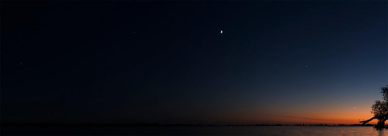 Mars Saturn Moon Jupiter and Venus