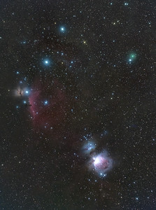 Comet C/2020 M3 (ATLAS) in Orion