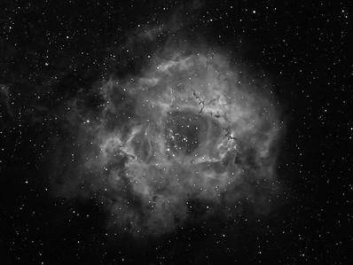 The Rosette in Hydrogen Alpha