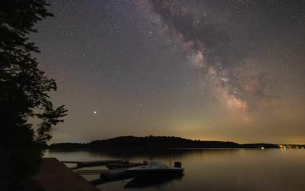 Jupiter, Saturn and the Milky Way