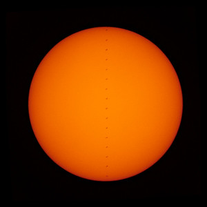 International Space Station flies across the Sun