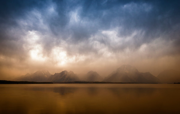 Grand Tetons and Jackson Lake,  Teton National Park, Wyoming