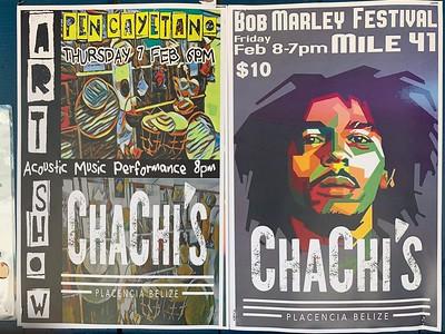 bob marley festival poster, placencia