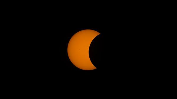 Partial Solar Eclipse, Cerro Pachon, Chile, Feb 2017