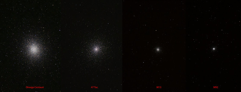 Globular Clusters all shot with the same optics.