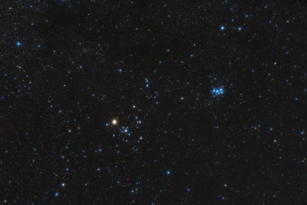 Pleiades and Hyades with Aldebaran