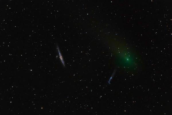 Comet 45.p Honda and Galaxies