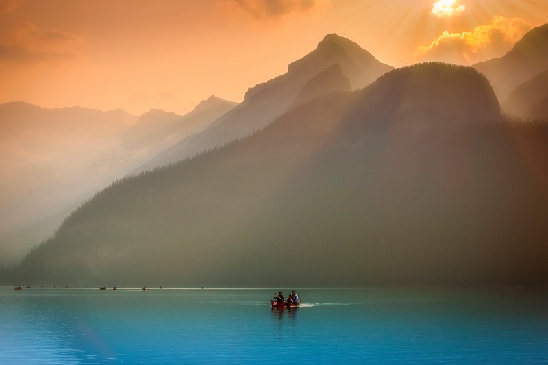 Canoeing on Color