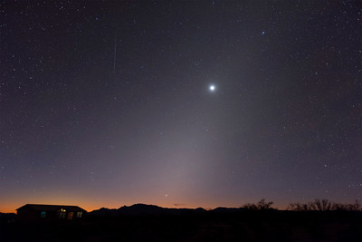 Early Geminid with Mercury and Venus in Zodiacal Light