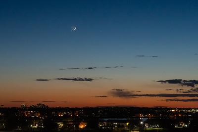 Moon, Mercury and Venus over Kingston