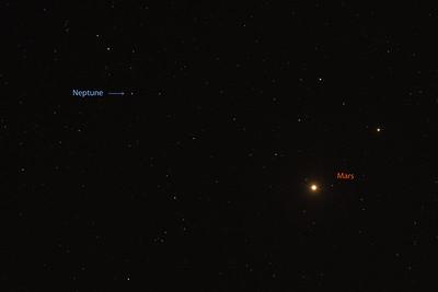 Mars and Neptune