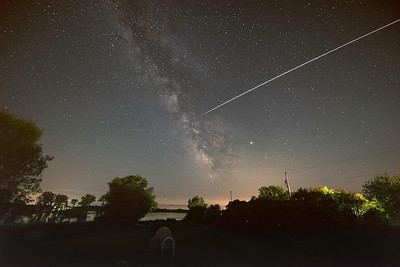 ISS flies towards the Milky Way