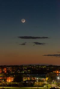 Moon and Mercury over Kingston