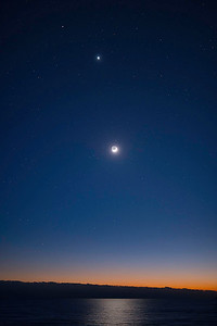Mars, Venus and the crescent Moon 1/30/17