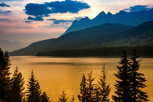 Yellowhead Lake Sunset