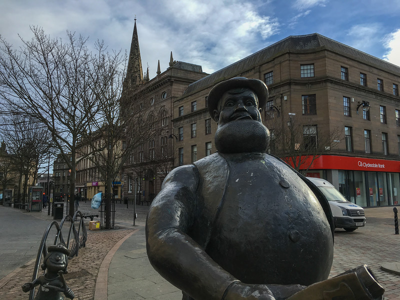 Desperate Dan statue, Dundee<br /> 2nd March 2017