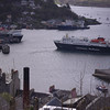 Clansman arriving at Oban, from McCaig's Tower<br /> 10th April 2017