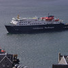 Clansman arriving in Oban Bay, from McCaig's Tower<br /> 10th April 2017
