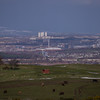 View towards Glasgow, including Ibrox Stadium and Glasgow Tower.<br /> 21st March 2017