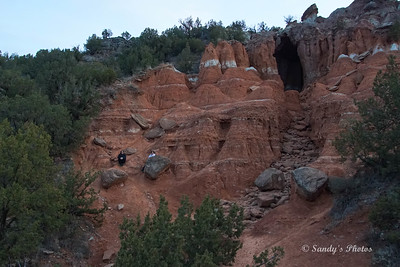 Nieces Kendra and Niki sitting in the cliffs.  We ended up climbing up to the cave entrance.