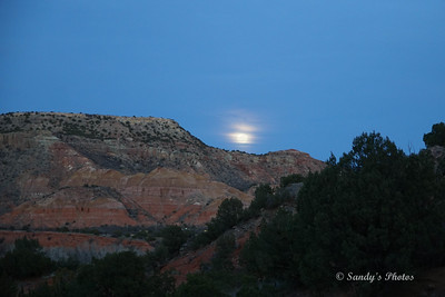 This was the evening of the full moon and it was rising as we descended from our climb.