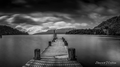 Lake Tarawera jetty mono