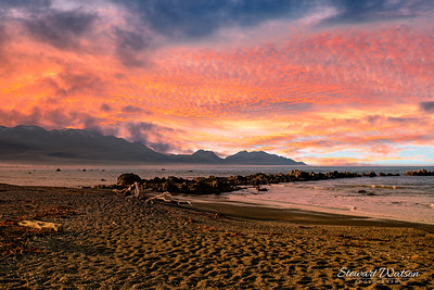 Stunning sunset skies at Kaikoura