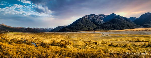 Ashburton high country glacial plain
