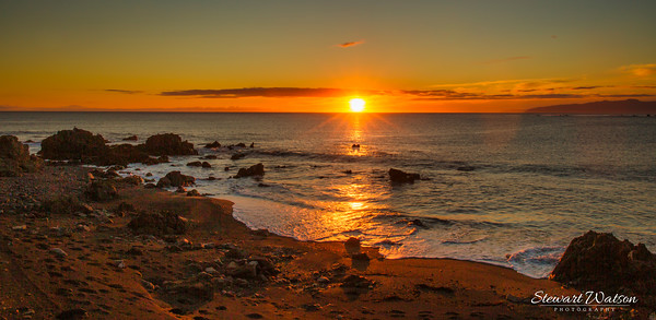 Cape Palliser sunset on the Wairarapa coast