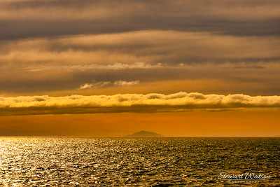 Crossing Cook Strait at sunset