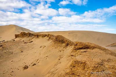 Giant sand dunes near ninety mile beach on the west coast of New Zealand