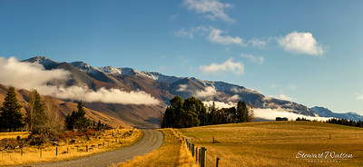 The beauty of nature in rural Southern alps countryside