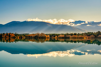 Reflections on lake Ruataniwha