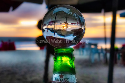 Perfection a Bintang at sunset on the beach