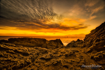 Cape Palliser orange sunset