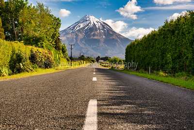 Heading directly to the beautiful snow capped volcanic cone of Mount Egmont in Taranaki New Zealand