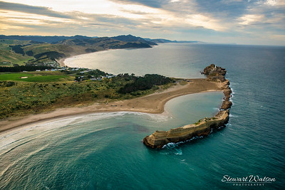 Turquoise waters at Castlepoint