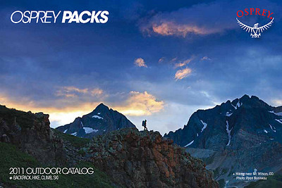 Osprey Backpacks 2011 Catalog Cover
